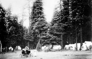 A Locomobile in Yosemite National Park